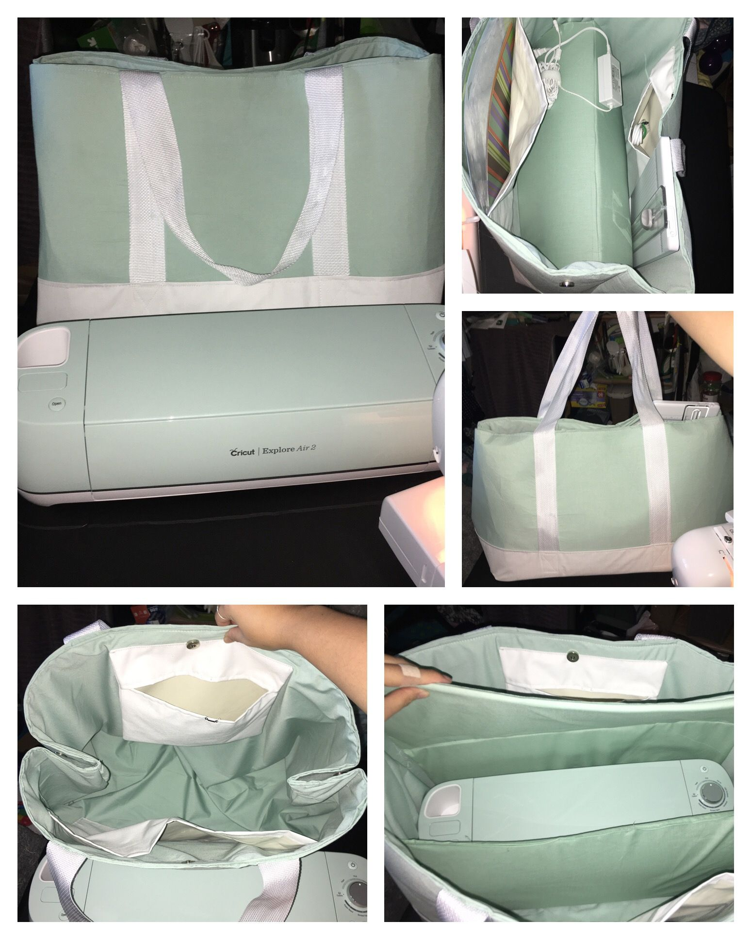 c8288529eac9 Cricut explore air 2 MATCHING TOTE BAG CARRYING CASE! My initial design was  too big and floppy so I reworked it so that it s just right.