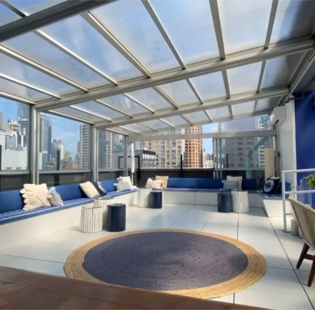Rooftop Restaurant Retractable Roof by Roll-A-Cover