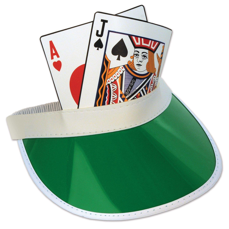 Blackjack Visor (Pack of 12) Poker party, Casino theme