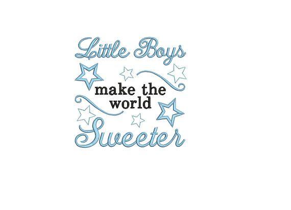 Baby boy quote embroidery machine design file newborn