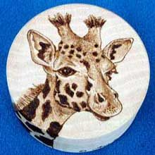 giraffe pyrography | Galleries : Boxes