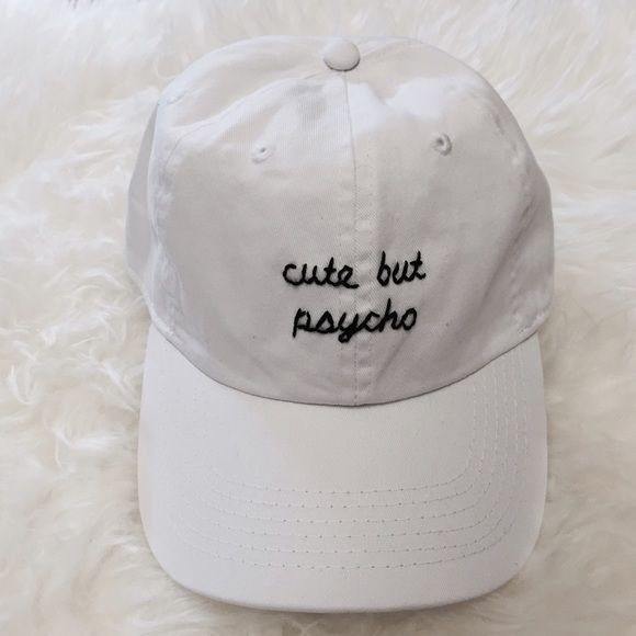 39cd1043cc4 Brandy Melville Accessories - Cute But Psycho Baseball Cap