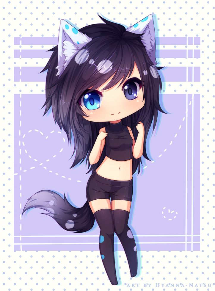Commission Shizuyo By Hyanna Natsu On Deviantart Anime Wolf Girl Cute Anime Chibi Kawaii Anime