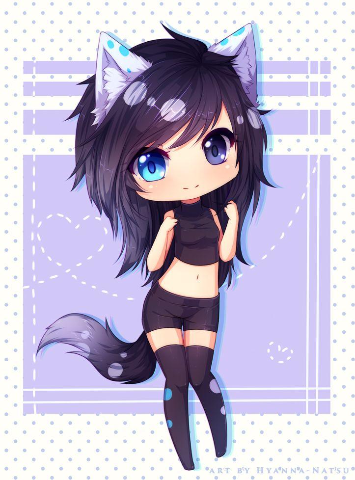 anime kawaii wolf: Shizuyo By Hyanna-Natsu On DeviantART