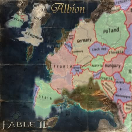 The map of Europe dimensionally warped over Albion | Fable! | Fable ...