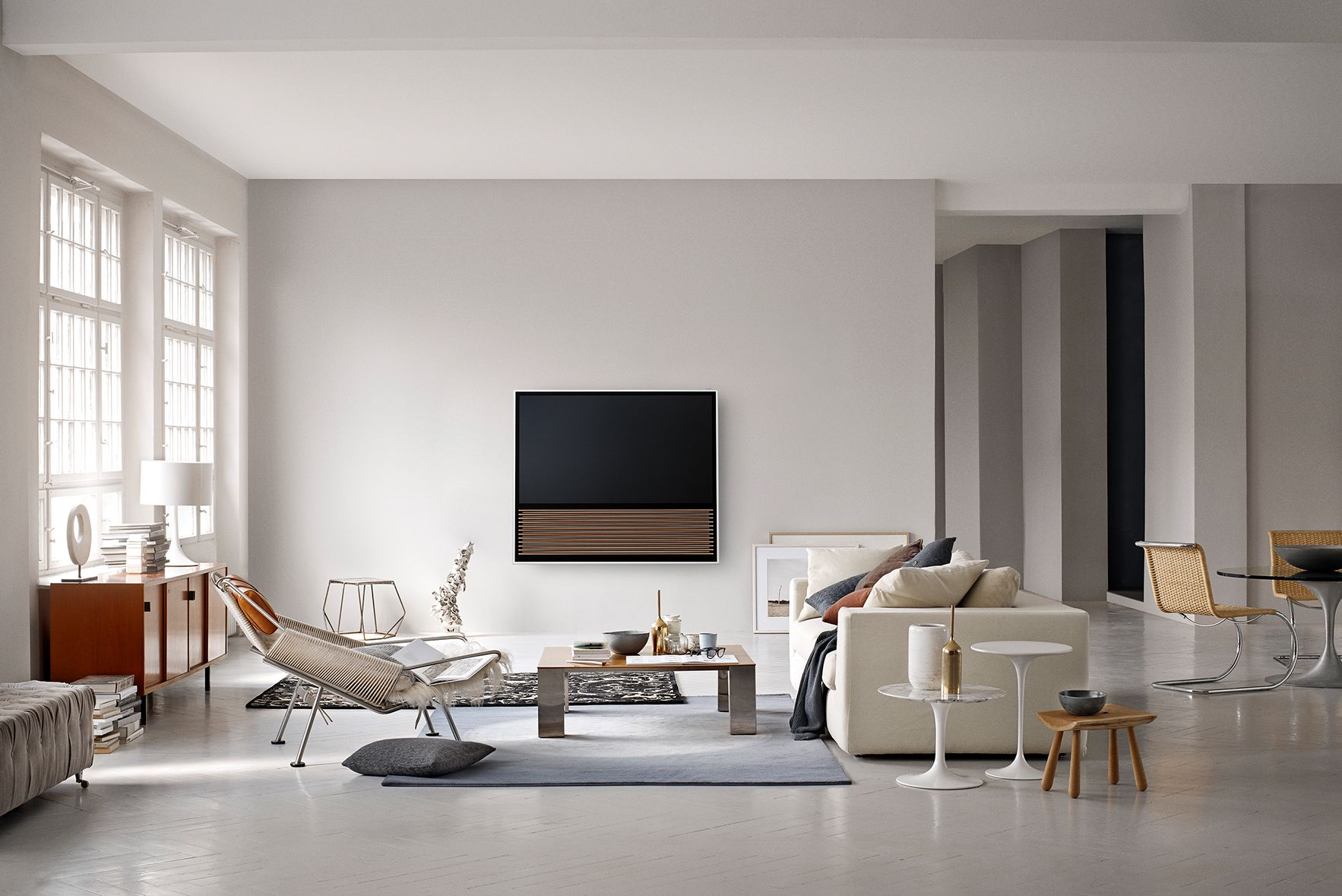beovision 14 features a minimalist design aesthetic and boasts a 4k ...