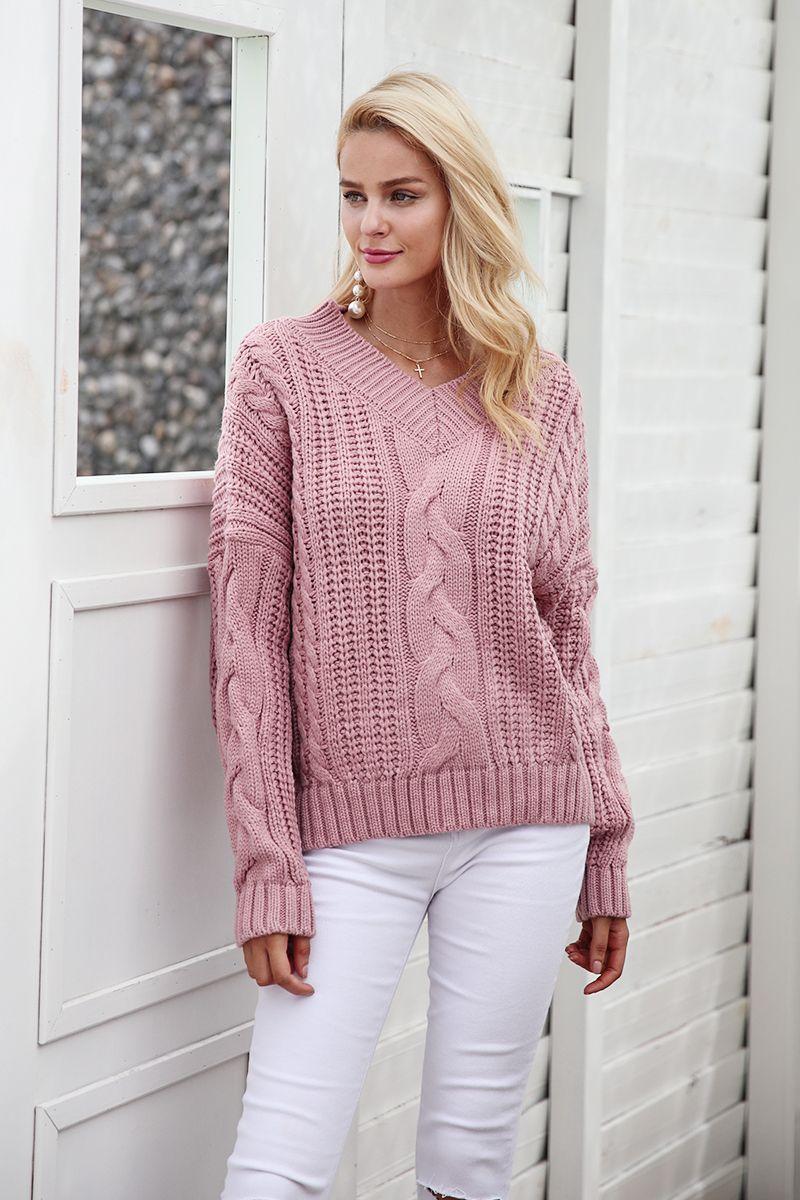 Simplee knitting pullover Autumn winter long sleeve 2017 sweater women pull  femme streetwear soft jumper – PasangSurut 4a34c0742