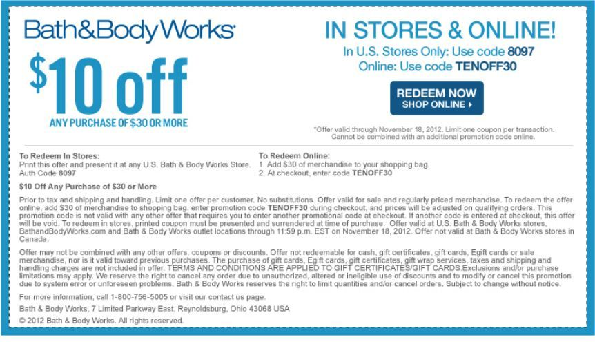 photo about Big 5 $10 Off $30 Printable named Bathtub Entire body Will work: $10 off $30 Printable Coupon Coupon codes
