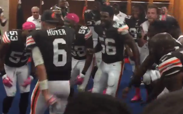 Watch Brian Hoyer Dance In The Locker Room After Browns Comeback Cleveland Browns History Cleveland Browns Football Browns Fans
