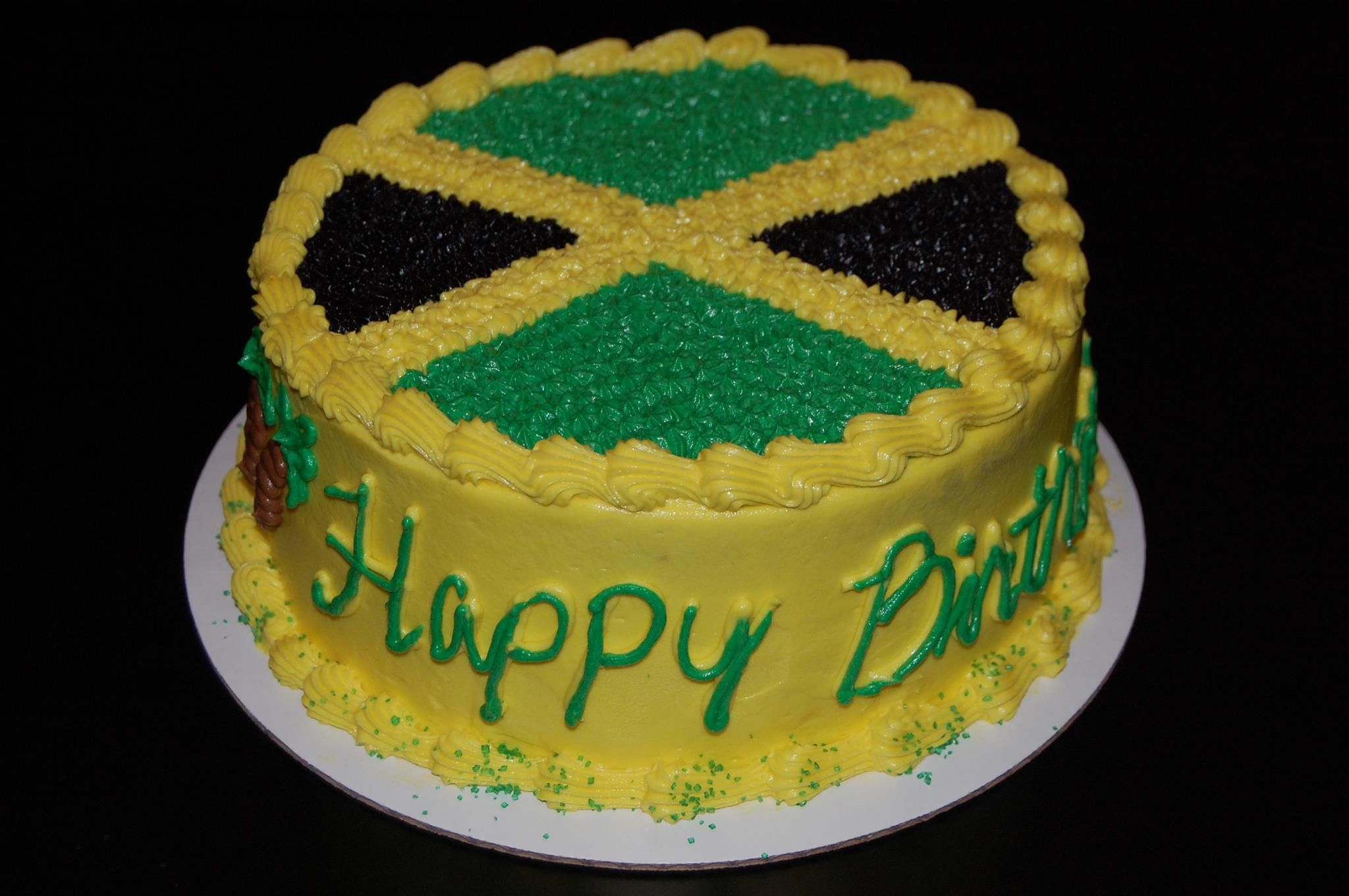 Brilliant Jamaican Birthday Cake With Images Jamaica Cake Cake Cake Personalised Birthday Cards Paralily Jamesorg
