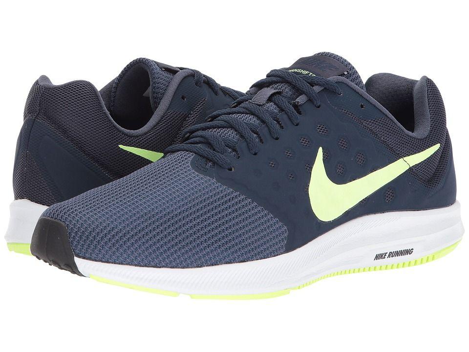 40148285ca95a Nike Downshifter 7 (Thunder Blue Volt Glow Obsidian Black) Men s Running  Shoes  shoes