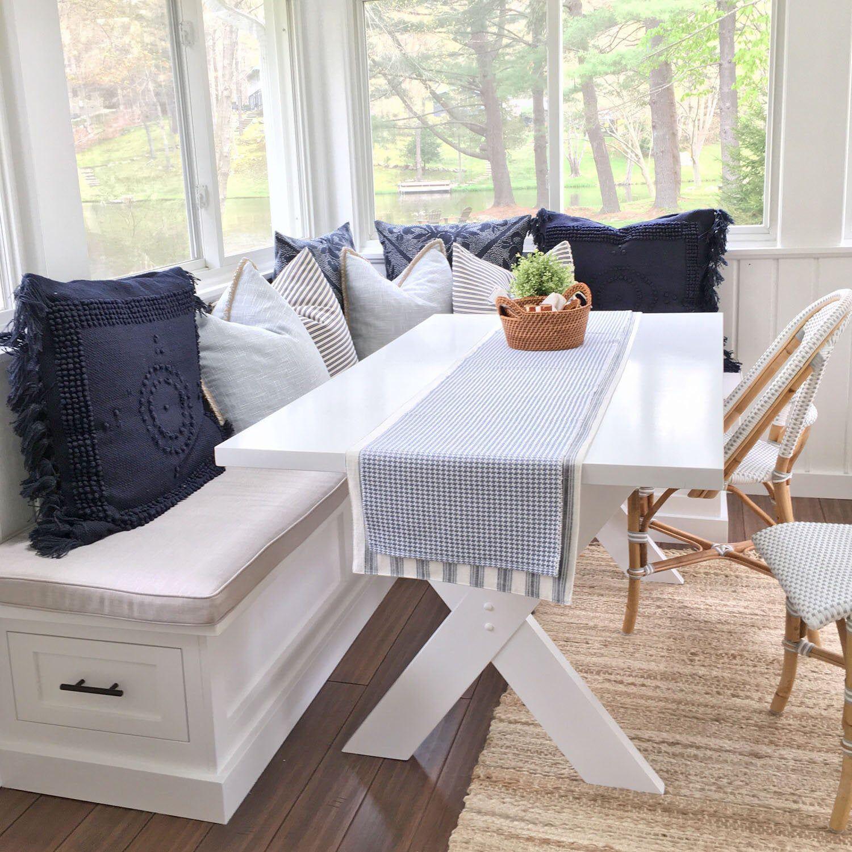 Sunbrella Custom Breakfast Nook Cushions Dining Table Window