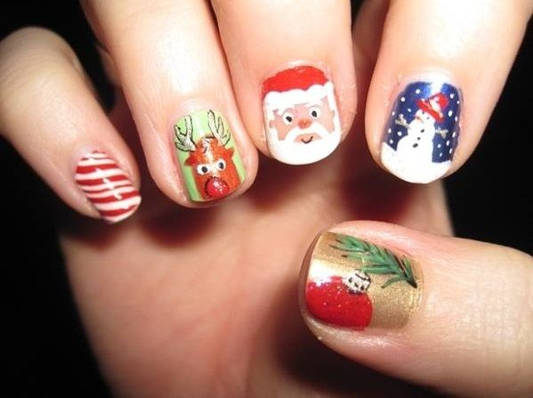 74 Adorable Holiday Nail Designs To Try This Christmas Holidays