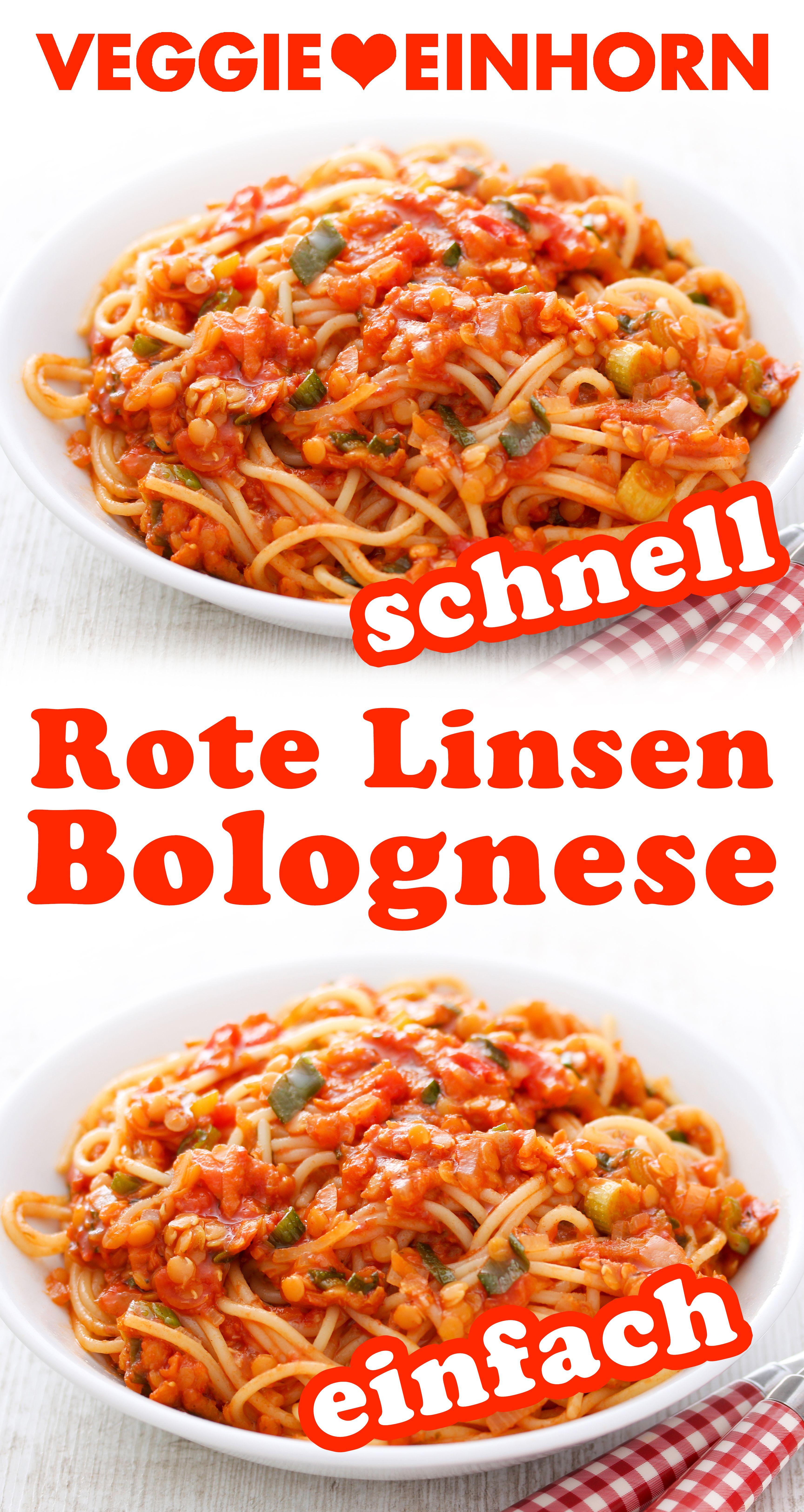 Schnelle Linsenbolognese {Bolognese mit roten Linsen} Veggie Einhorn®