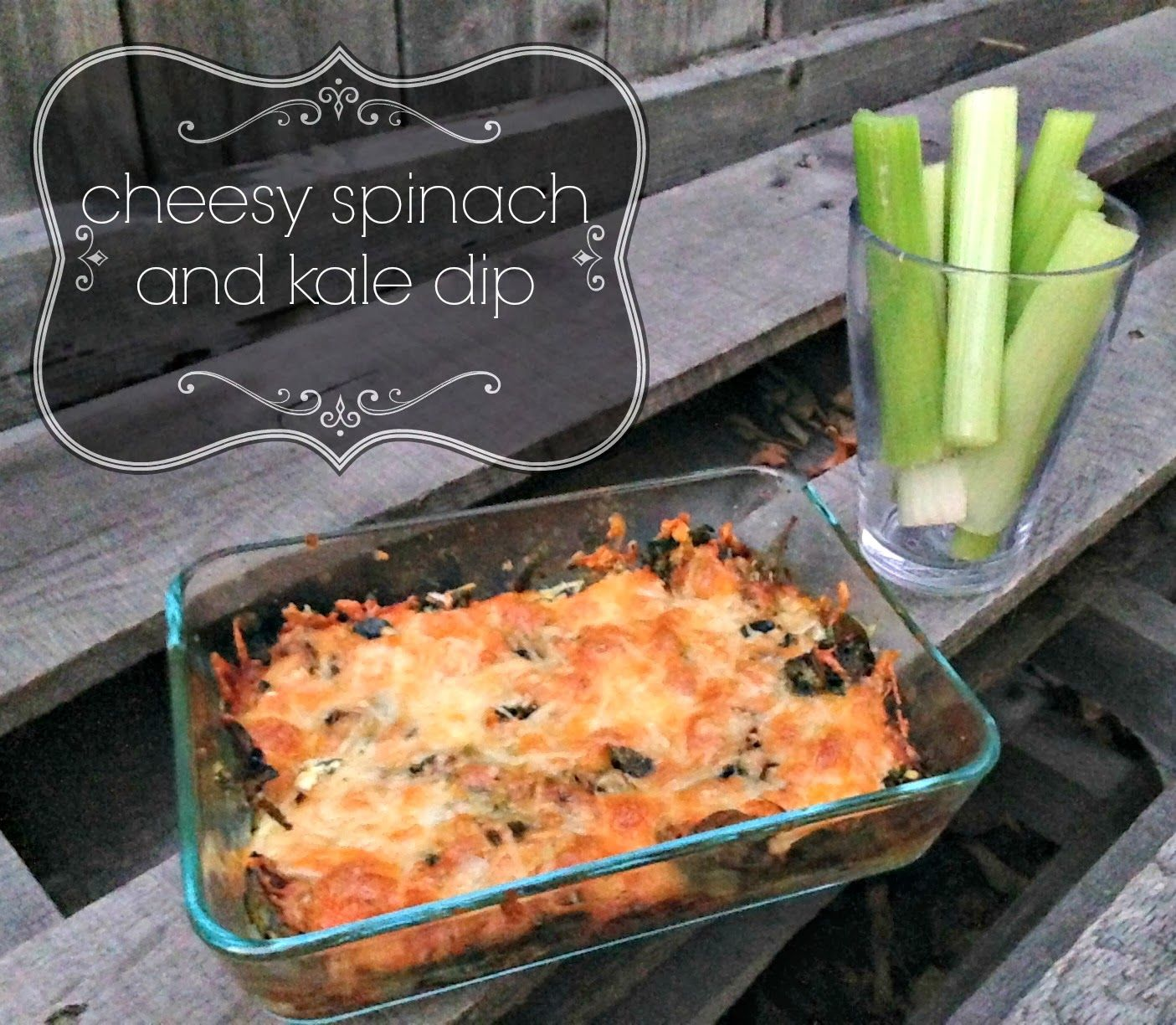 Confessions of a Foodaholic: cheesy spinach and kale dip
