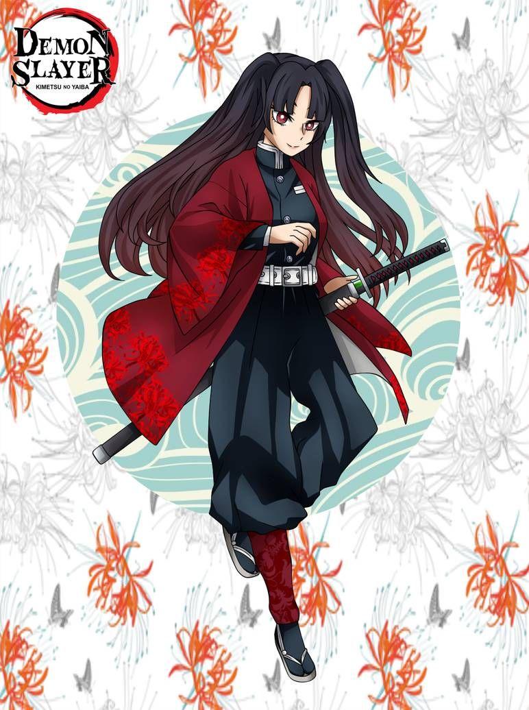 Kny Oc Mirai Hinohana By Jixelioz On Deviantart Slayer Anime