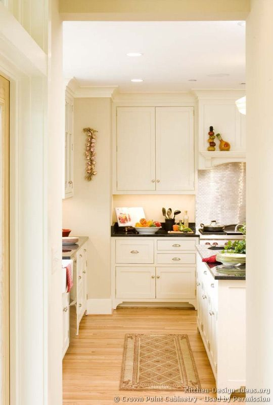 Traditional White Kitchen Cabinets #05 (Crown-Point.com, Kitchen ...