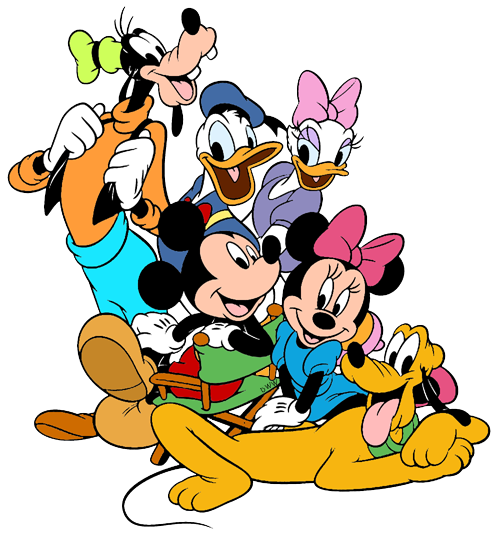 Mickey Mouse Pluto Minnie Mouse Donald Duck Daisy Duck Goofy