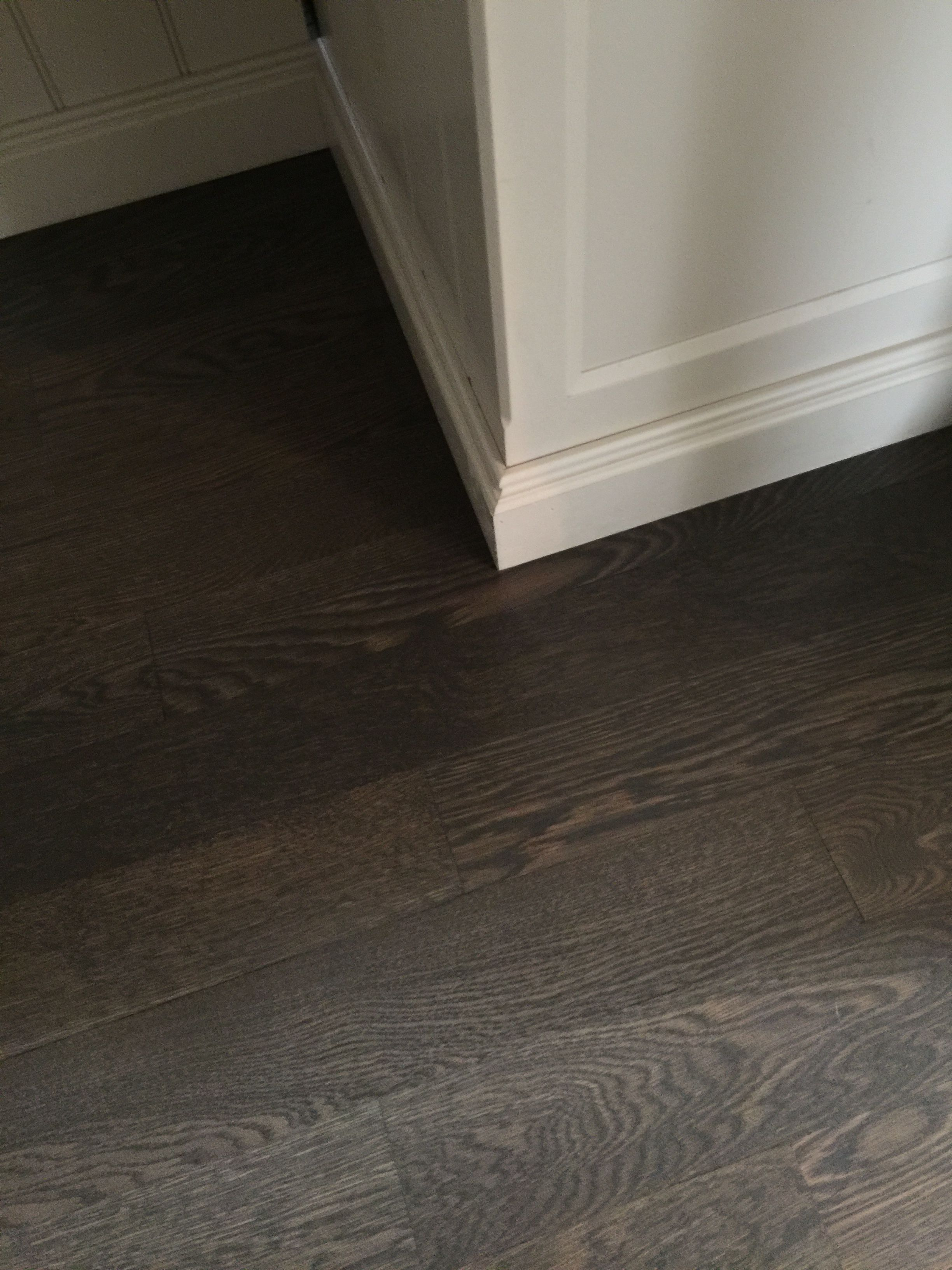 "4"" white oak hardwood floor Stain Classic grey and ebony"