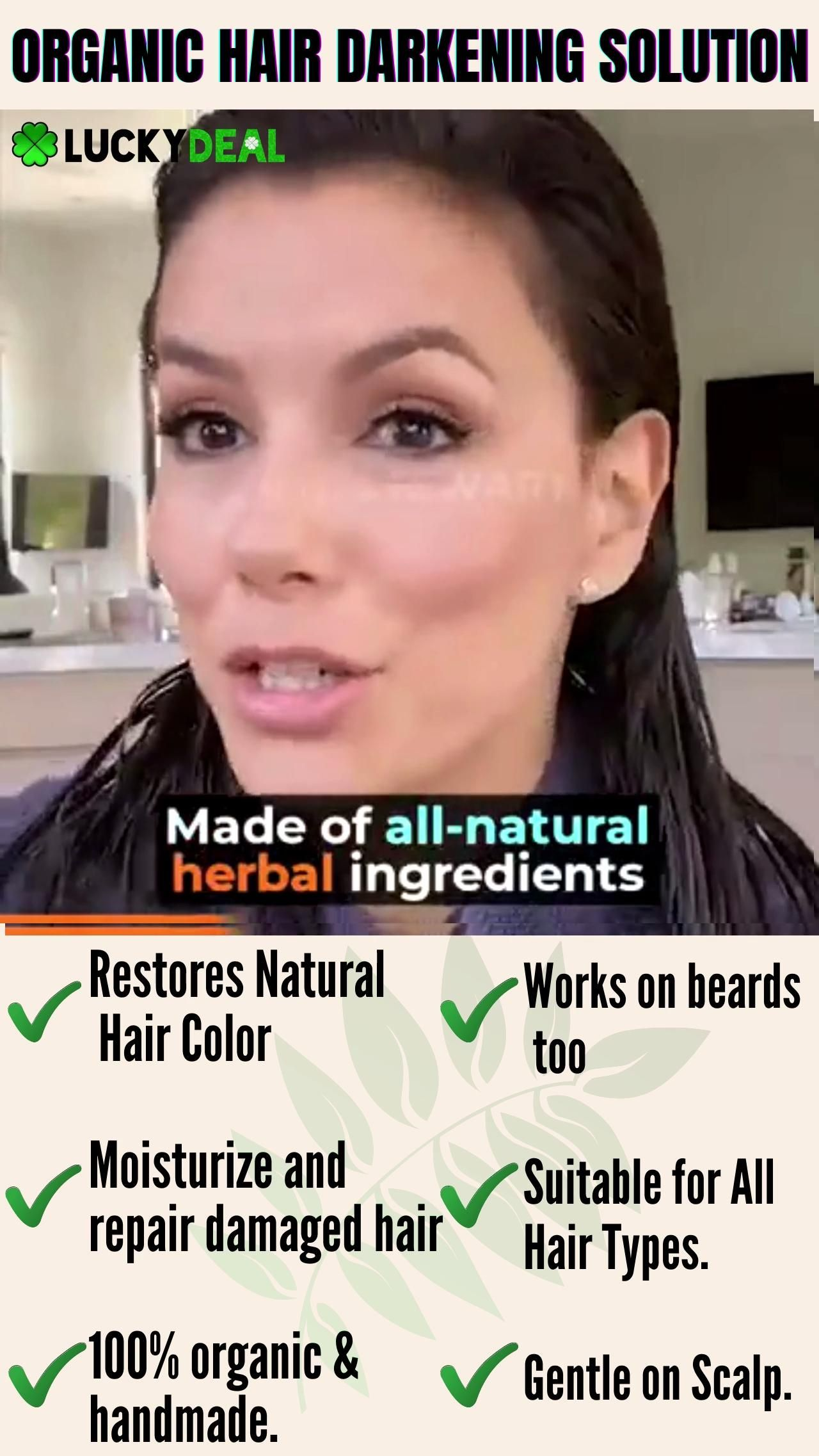😍No more dye to cover grey hair! 100% Handmade & O