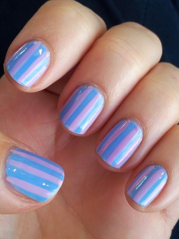 Blue and pink stripes