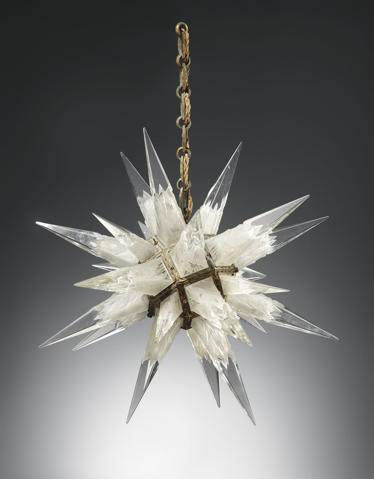 Amazing pointed star crystal chandelier art Very non