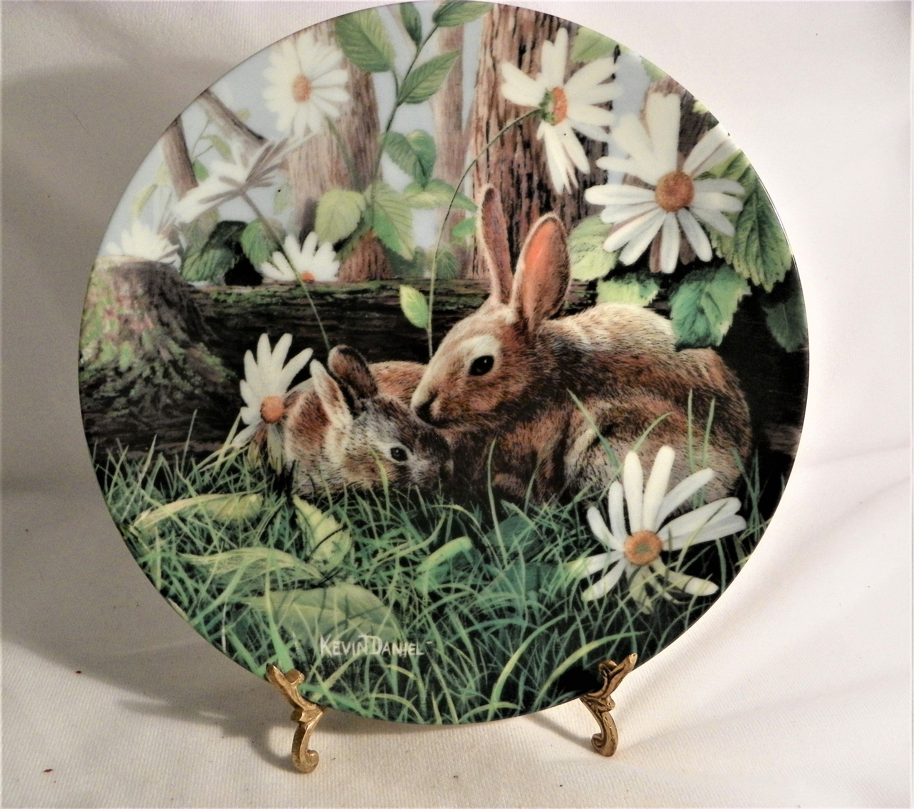 The Rabbit Plate By Kevin Daniel 1st Issue In Encyclopedia Rabbit Plate Antique Collection Girls Music Box