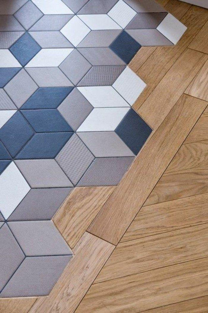 Kombination Fliesen und Parkett Tipps Designs #Design #dekor - Parkett In Der Küche