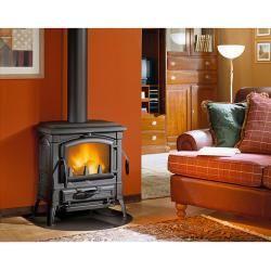 Photo of La Nordica stove Isetta Evo (7.7 kW, room heating capacity: 221 m³, without hotplate, black) La Nord