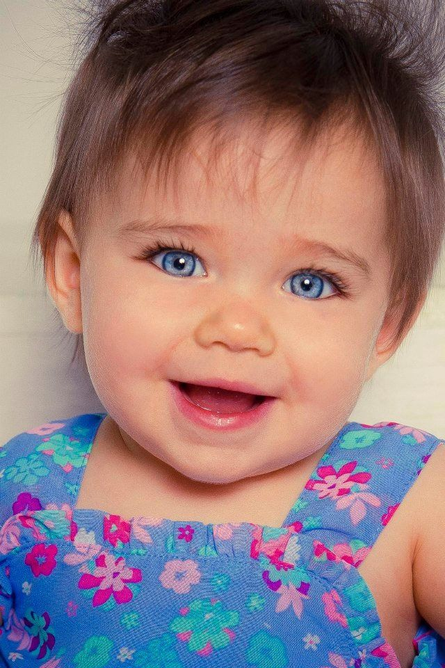 Gorgeous baby blues! | LITTLE ONES | Beautiful children ... Cute Baby Girls With Brown Hair And Blue Eyes