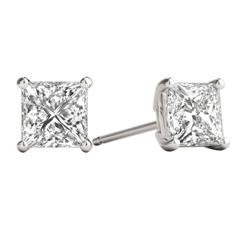 Pin On Princess Cut Diamond Earrings