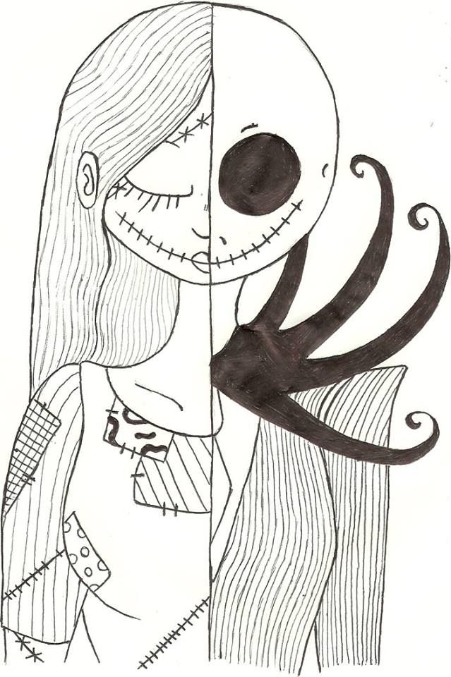 My Sally/Jack drawing from nightmare before christmas