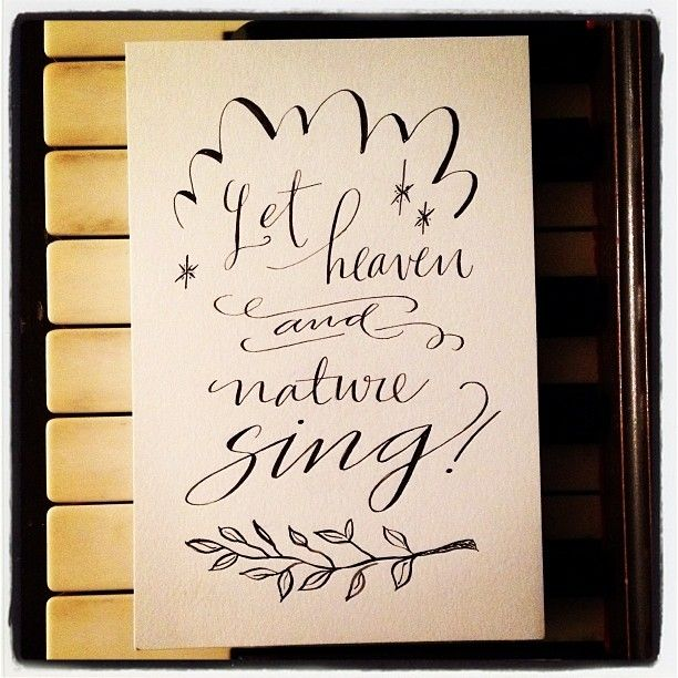 Let heaven and nature sing print by paperglaze