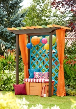 Ronseal Garden Paint: English Oak Sunburst Summer Sky   Garden ...