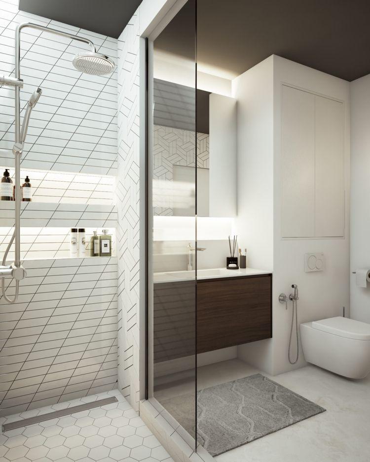 weiss grau beige badezimmer dusche glaswand #dream #house - badezimmer weiß grau