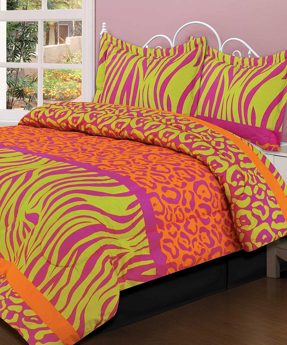 Crazy Neon Comforter Set Daily Deals For Moms Babies