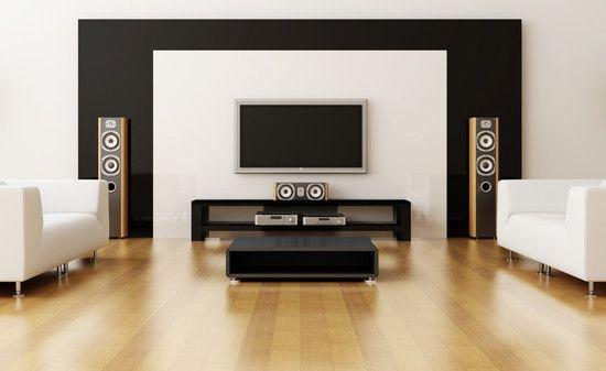 Floor Standing Speakers In Living Room Modern Living