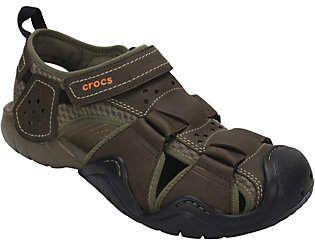 Crocs Men S Leather Fisherman Sandals Swiftwater Fisherman Sandals Crocs Men Leather Men