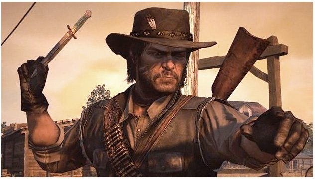 5576d6cbd At the beginning of the Red Dead Redemption game Marston wears his ...