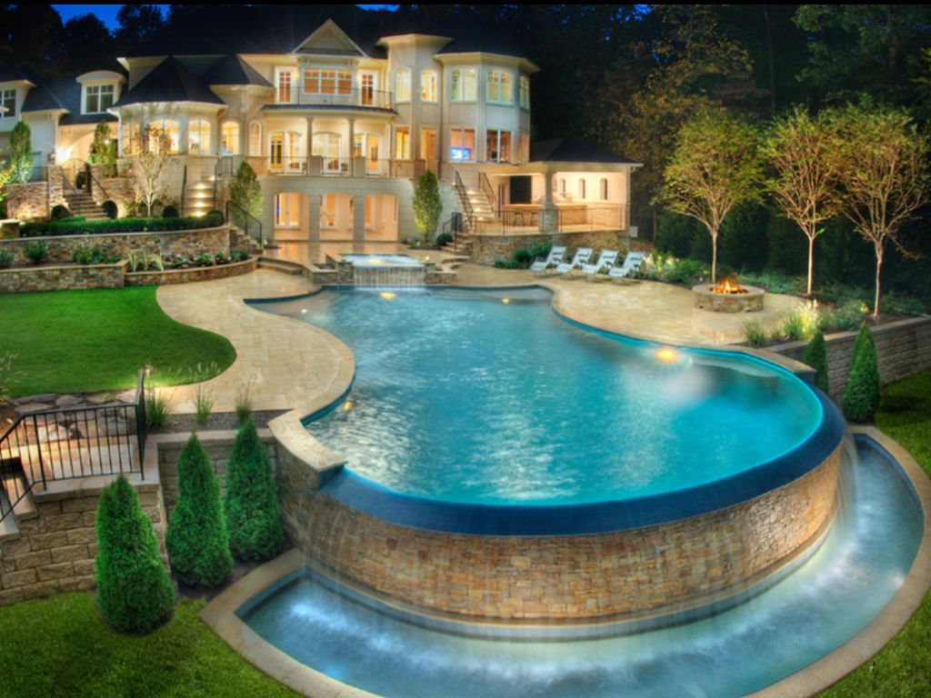 Outdoor House Pools huge house! and pool!! | huge house | pinterest | huge houses