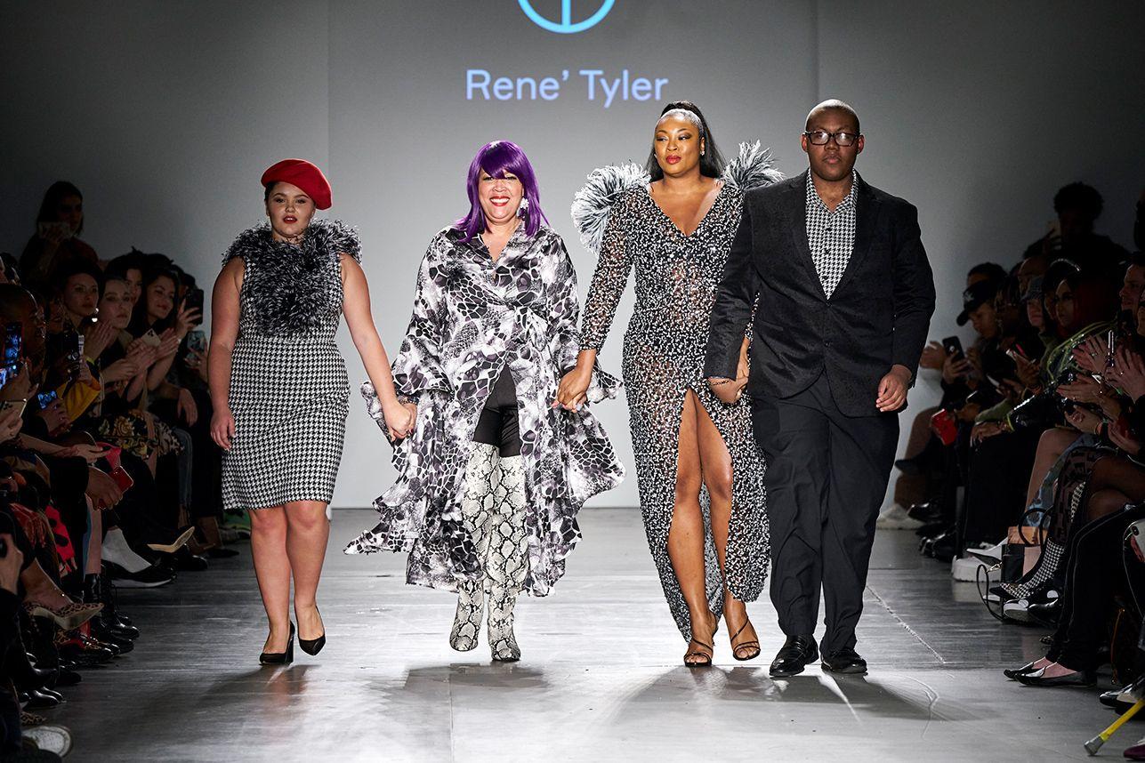 Plus Size Designer Rene Tyler Stole The Show At New York Fashion Week In 2020 New York Fashion Week Fashion New York Fashion