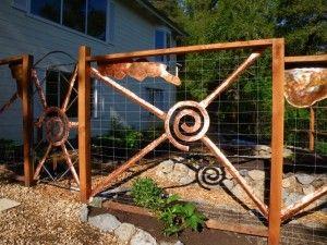Deer fence, front entry