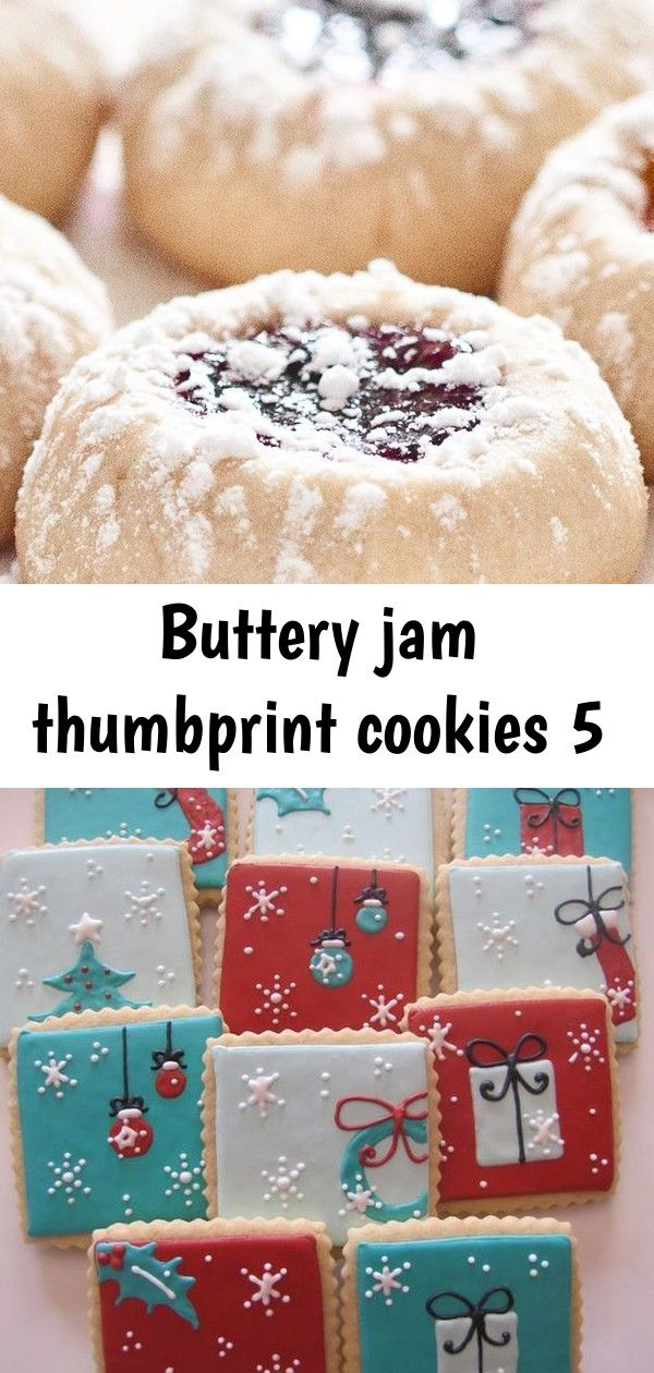 Buttery jam thumbprint cookies 5 #jamthumbprintcookies