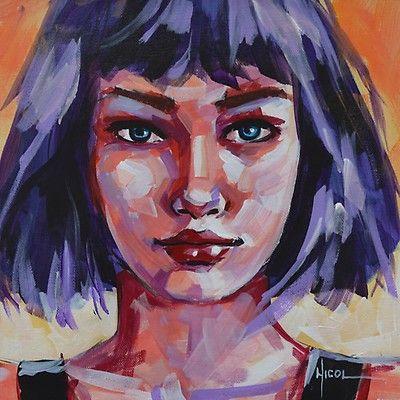 Oeuvre d art unique Urda de l'artiste Nicoleta Vacaru, de style Portrait