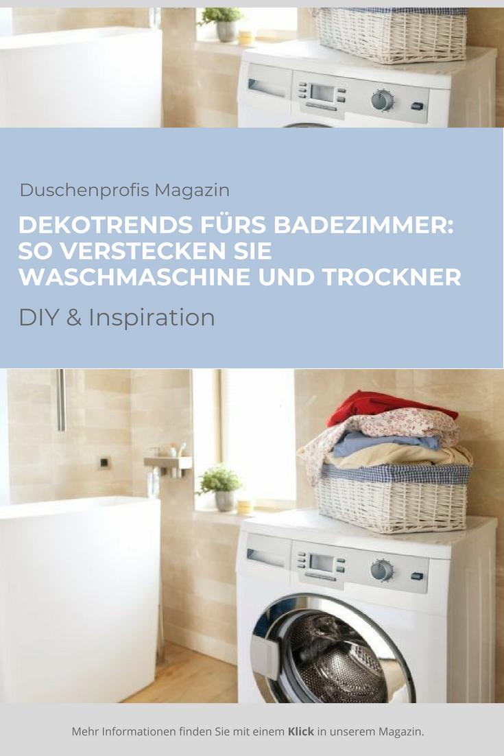 Dekotrends Furs Badezimmer So Verstecken Sie Waschmaschine Und Trockner Waschmaschine Trockner Auf Waschmaschine Wasche