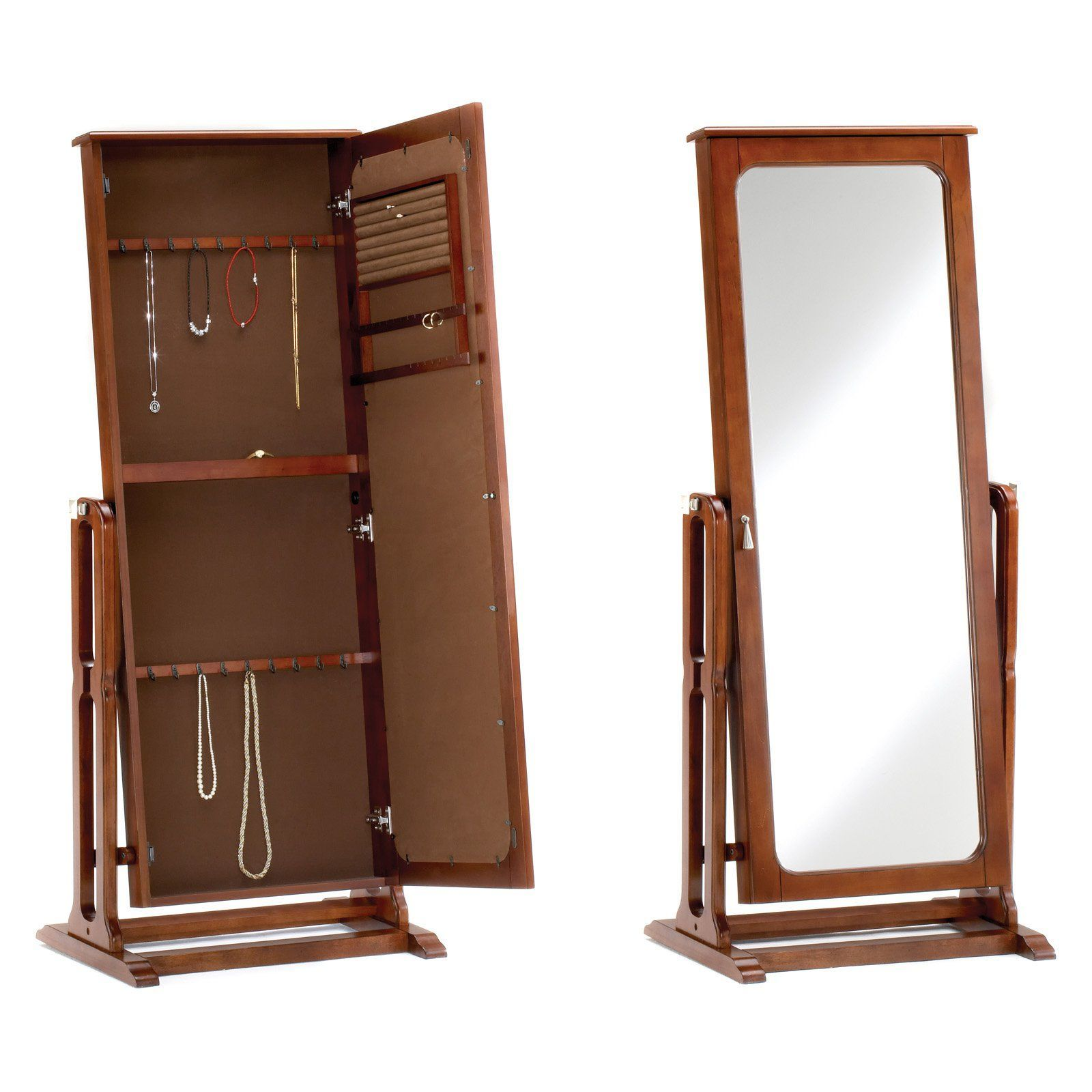 Bernards Cherry Jewelry Armoire with Mirror 7003 Paracord
