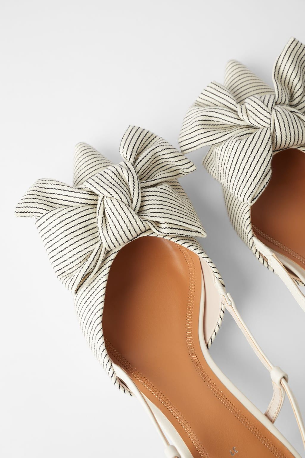 Striped Kitten Heel Shoes With Bow View All Shoes Woman Zara United States Absatz Schuhe Schuhe Frauen