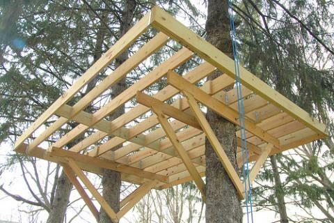 Afbeeldingsresultaat voor boomhut bouwen