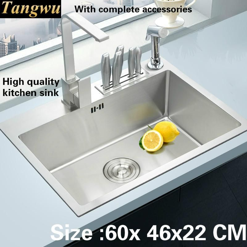 Tangwu handmade high end kitchen sink 4 mm thick food grade 304 tangwu handmade high end kitchen sink 4 mm thick food grade 304 stainless steel wash bowl of small single slot 60x46x22 cm affiliate workwithnaturefo