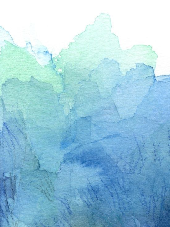 Abstract Watercolor Texture Blue Green Olechka Society6